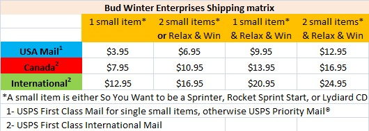 Bud Winter shipping options